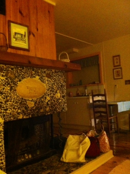 Staying downstairs in the Dairy Hollow House.